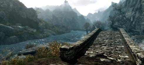 A bridge in Skyrim